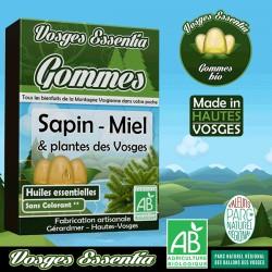 Gommes bio à l'huile essentielle et au miel de Sapin