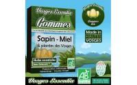 Gommes bio à l'huile essentielle de sapin, miel de sapin, plantes des Vosges