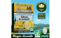 Gommes bio à l'huile essentielle de Citron et à la propolis